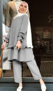 استایل مونوکروم خانم های قد بلند