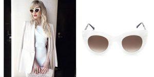 عینک آفتابی با قالب سفید